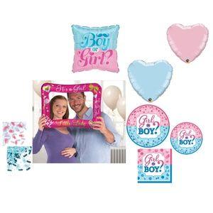 Gender Reveal Girl Party Kit Plates Balloons Decor